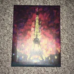Eiffel Tower Watercolor Canvas